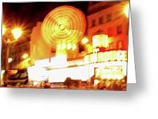 Moulin Rouge Greeting Card by Edward Lee