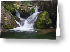 Mountain Waterfall IIi Greeting Card by William Dickman