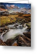Mountains North Wales Greeting Card