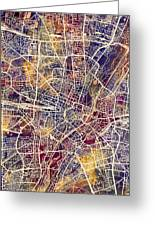 Munich Germany City Map Greeting Card