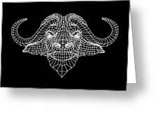 Night Buffalo Greeting Card