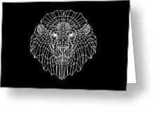 Night Lion Greeting Card
