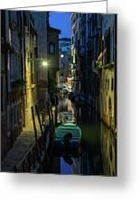 Night Walk In Venice Greeting Card