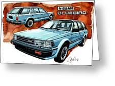Nissan Bluebird Sw Greeting Card