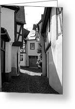 old historic street in Ediger Germany Greeting Card
