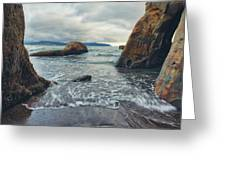 Oregon Coast Greeting Card by Nicole Young