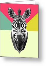 Party Zebra  Greeting Card