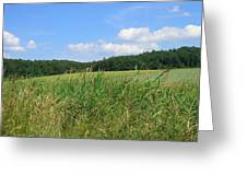 Photography Landscape With Fields In Germany Greeting Card
