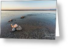 Platte River Mouth At Sunset Greeting Card