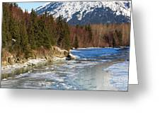 Portage Creek Portage Glacier Highway, Alaska Greeting Card