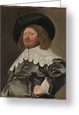 Portrait Of A Man  Possibly Nicolaes Pietersz Duyst Van Voorhout  Greeting Card