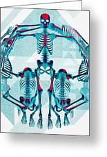 Pulchra Mors / Rgb Geometric Greeting Card