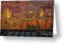 Railcar Abstract Greeting Card