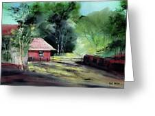 Red House R Greeting Card