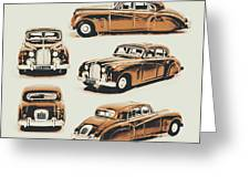 Retro Rides Greeting Card