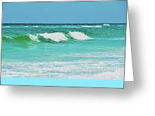 Rolling Waves Greeting Card