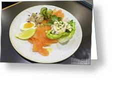 Seafood Platter Greeting Card