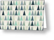 Seamless Geometric Pattern On Paper Greeting Card
