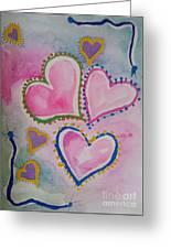 Seven Hearts Greeting Card