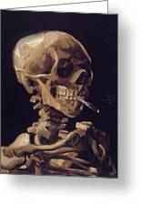 Skull With Cigarette  Greeting Card