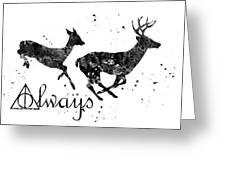 Stag Patronus Greeting Card