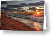 Sunset Fire Sky Greeting Card