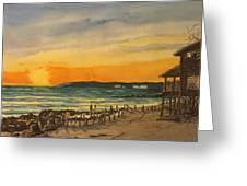 Sunset On Bradenton Beach, Fl. Greeting Card