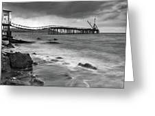 The Abandoned Pier Greeting Card by Michalakis Ppalis