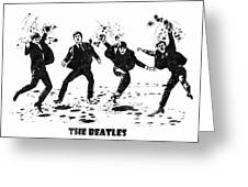 The Beatles Black And White Watercolor 01 Greeting Card
