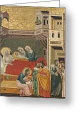 The Birth, Naming, And Circumcision Of Saint John The Baptist Greeting Card