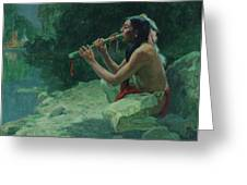 The Call Of The Flute Greeting Card