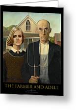 The Farmer And Adele Greeting Card