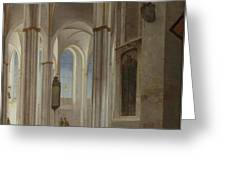 The Interior Of The Buurkerk At Utrecht  Greeting Card