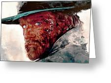 The Wounded Cowboy Greeting Card