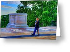 Tomb Of The Unknown Soldier Painting Greeting Card