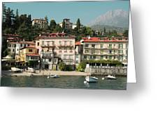 Town In The Shore Of Lake Como Greeting Card