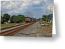 Train In Motion Greeting Card
