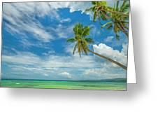Tropical Beach, Siquijor Island Greeting Card