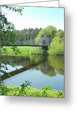 Union Bridge At Horncliffe On River Tweed Greeting Card