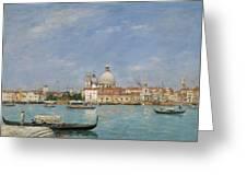 Venice, Santa Maria Della Salute From San Giorgio - Digital Remastered Edition Greeting Card