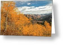 View Of Peaks Greeting Card