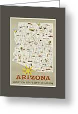 Vintage Travel Poster - Arizona Greeting Card