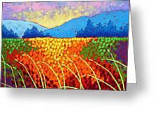 Violet Hills  Greeting Card