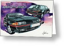 Volvo 480 Turbo Greeting Card