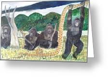 warriors of Bwindi Impenetrable  Greeting Card