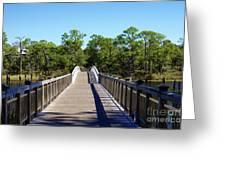 Western Lake Bridge Greeting Card