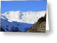 Wind Blows Over The Kenai Mountains Alaska Greeting Card