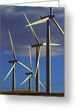 Wind Power Art  Greeting Card