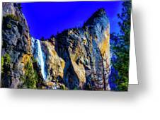 Winter Bridalveil Falls Greeting Card