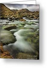Winter River Rapids Greeting Card